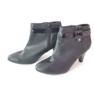 East 5th Quanda Black Ankle Heeled Booties